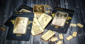 Банковские слитки золота