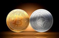 Криптовалюты Биткоин (BTC) и Эфириум (ETH)