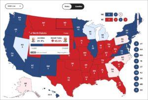 Ход подсчета голосов в США